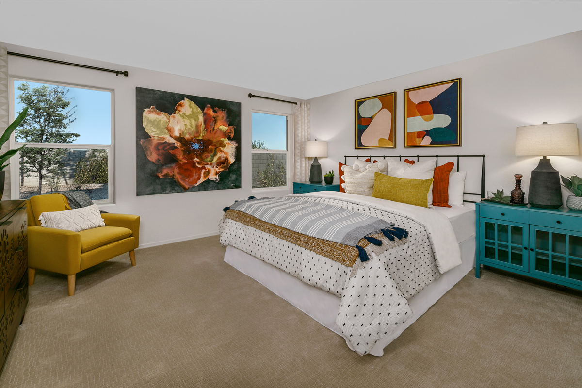 New Homes in Phoenix, AZ - Santolina at South Mountain Plan 1765 Master Bedroom