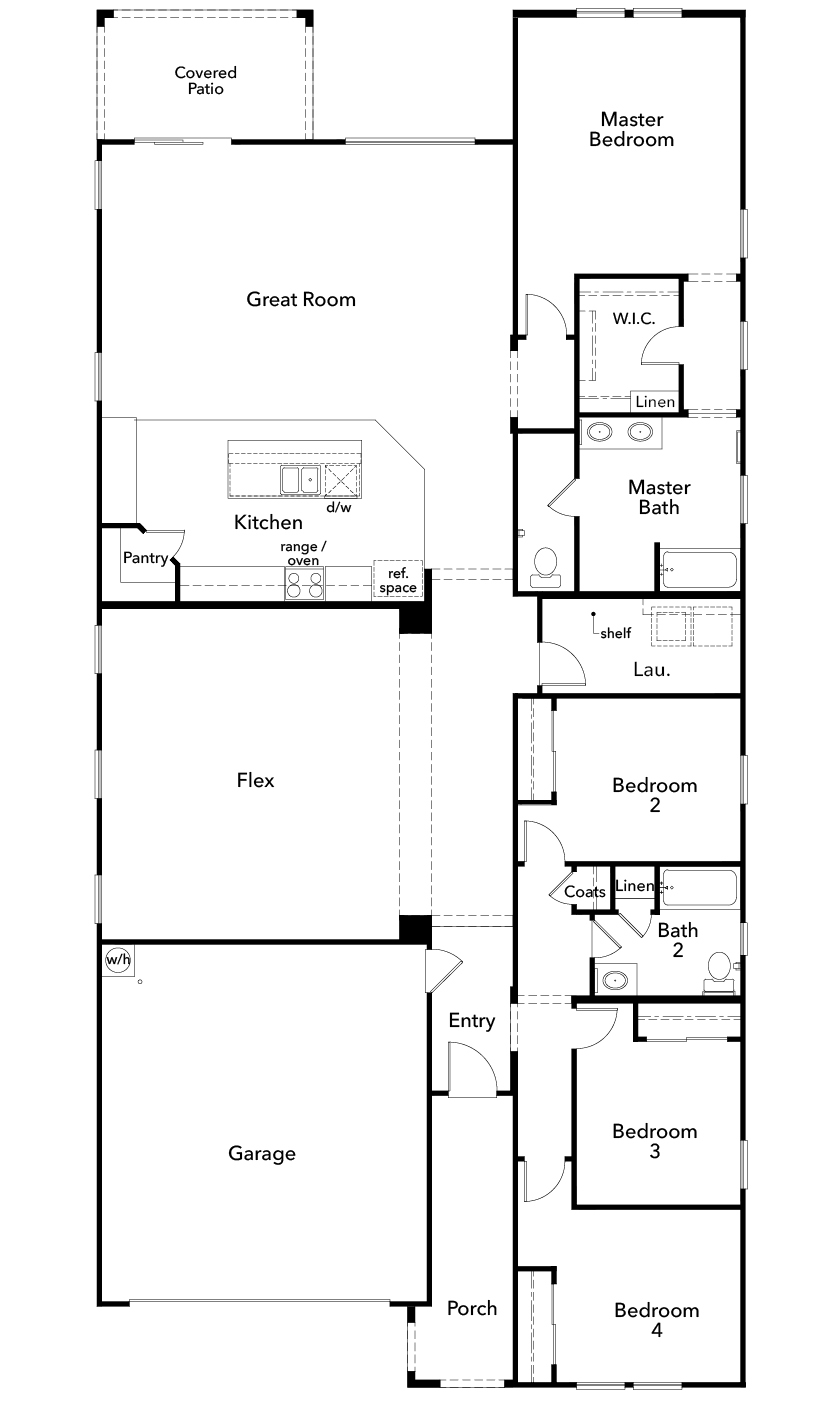 New Homes in Phoenix, AZ - Plan 2543, First Floor