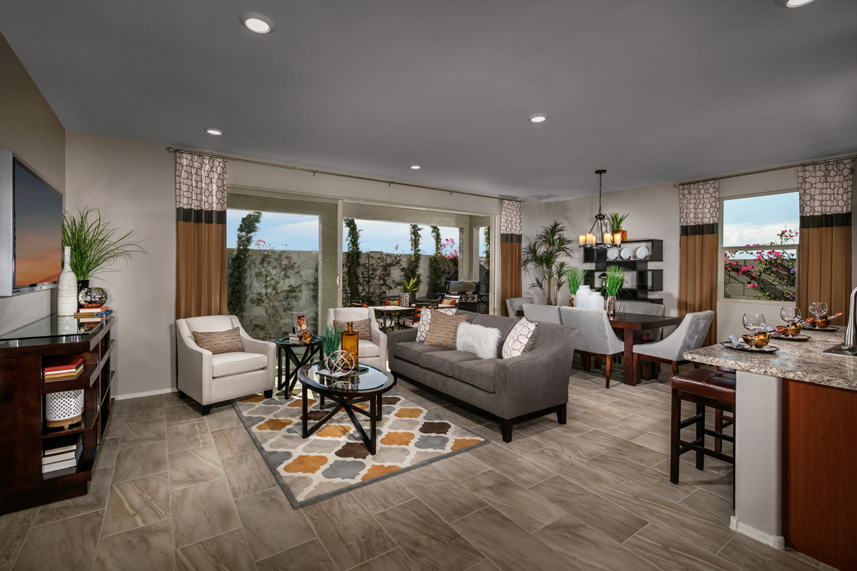 New Homes in Surprise, AZ - Villas at Sycamore Farms Plan 1551 Great Room