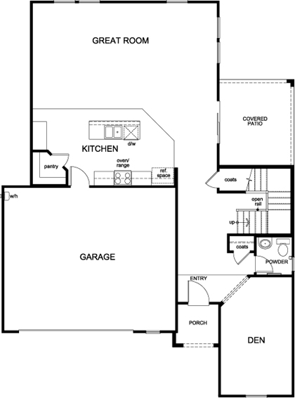 New Homes in Surprise, AZ - Plan 2537, First Floor