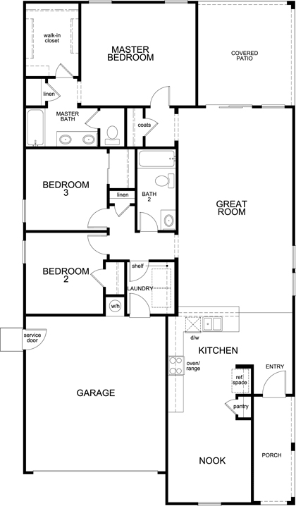 New Homes in Goodyear, AZ - Plan 1579, First Floor