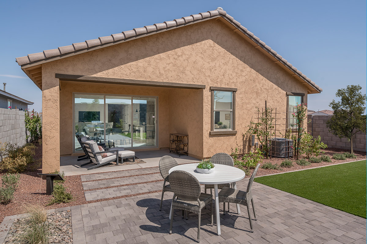 New Homes in Buckeye, AZ - The Traditions at Verrado Plan 1671 Back Patio