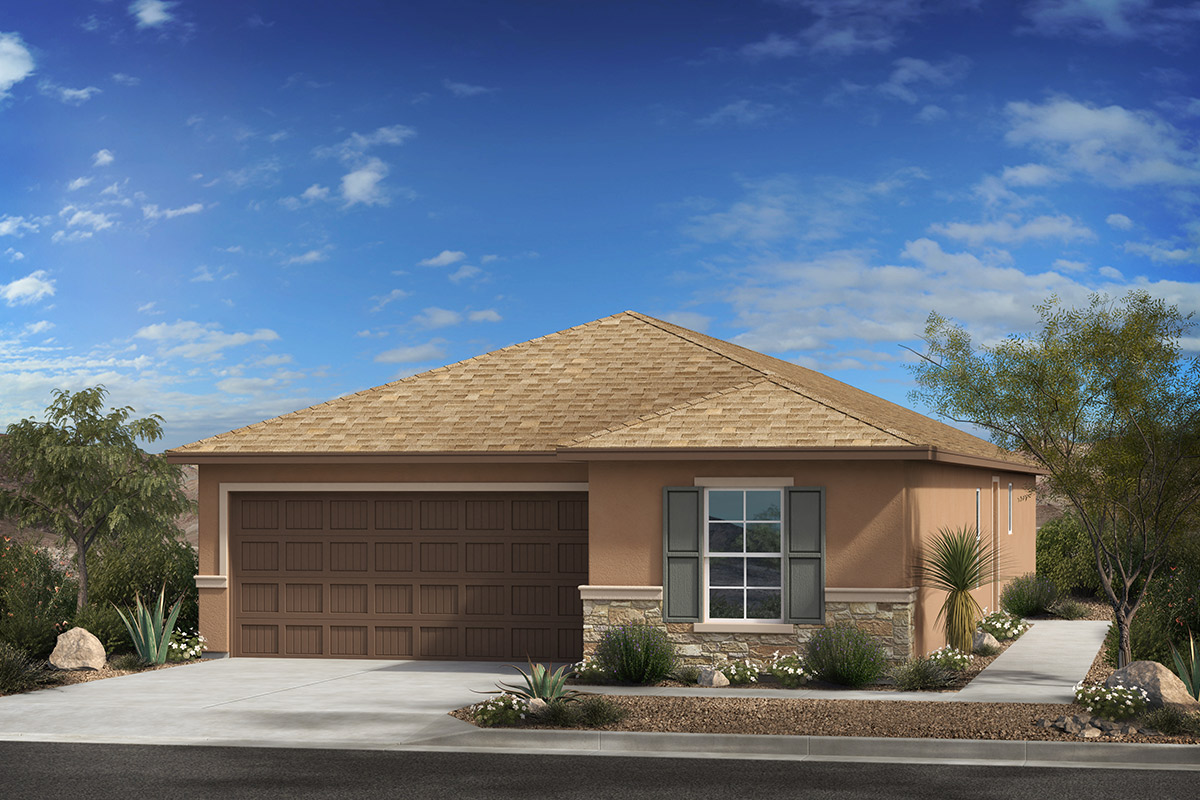 New Homes in Tucson, AZ - Arroyo Reserve Plan 1740 Elevation C (with Optional Stone)