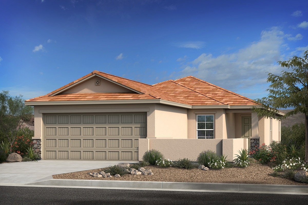 New Homes in Marana, AZ - Elevation C with optional stone