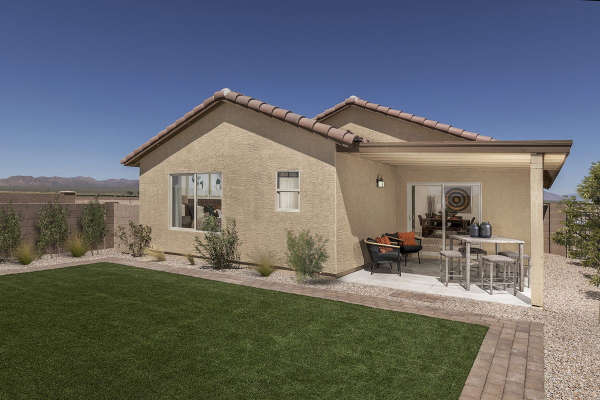 New Homes in Marana, AZ - KB Home at Gladden Farms Plan 1465 Patio
