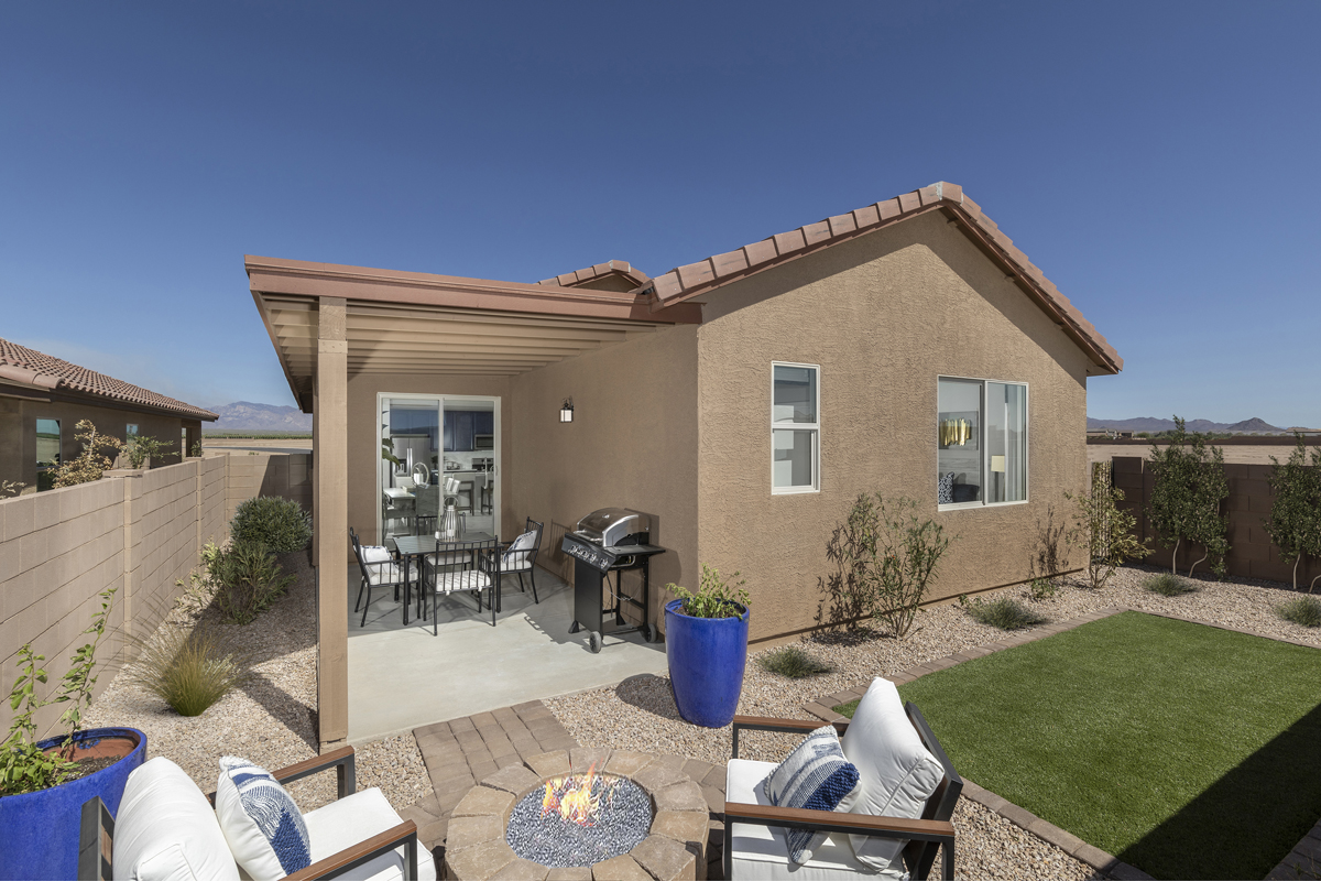 New Homes in Marana, AZ - KB Home at Gladden Farms Plan 1745 Patio