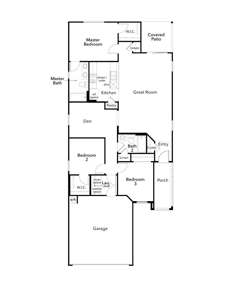 New Homes in Marana, AZ - Plan 1383, First Floor