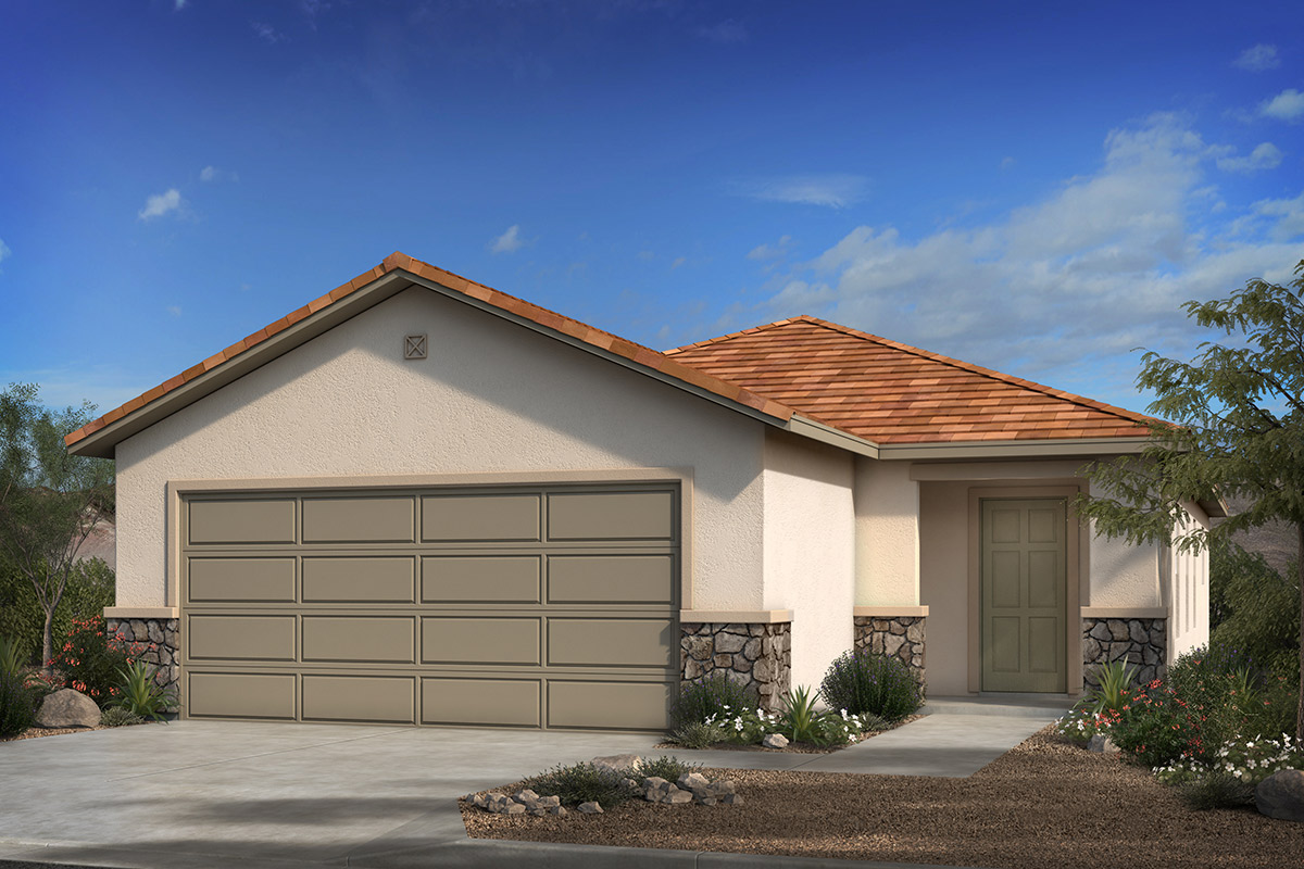 New Homes in Tucson, AZ - Elevation C With Optional Stone