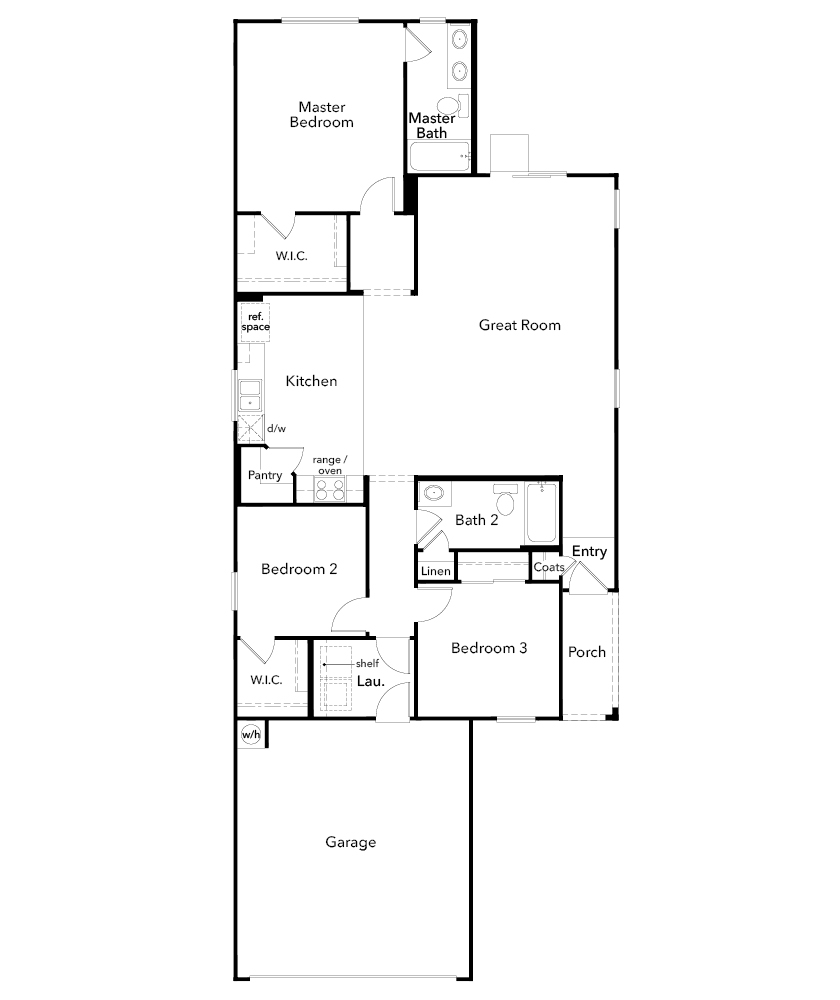 New Homes in Tucson, AZ - Plan 1465, First Floor