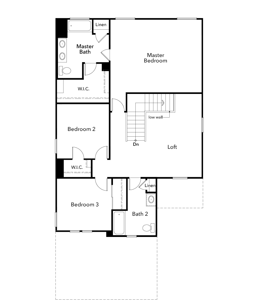 New Homes in Tucson, AZ - Plan 2212, Second Floor