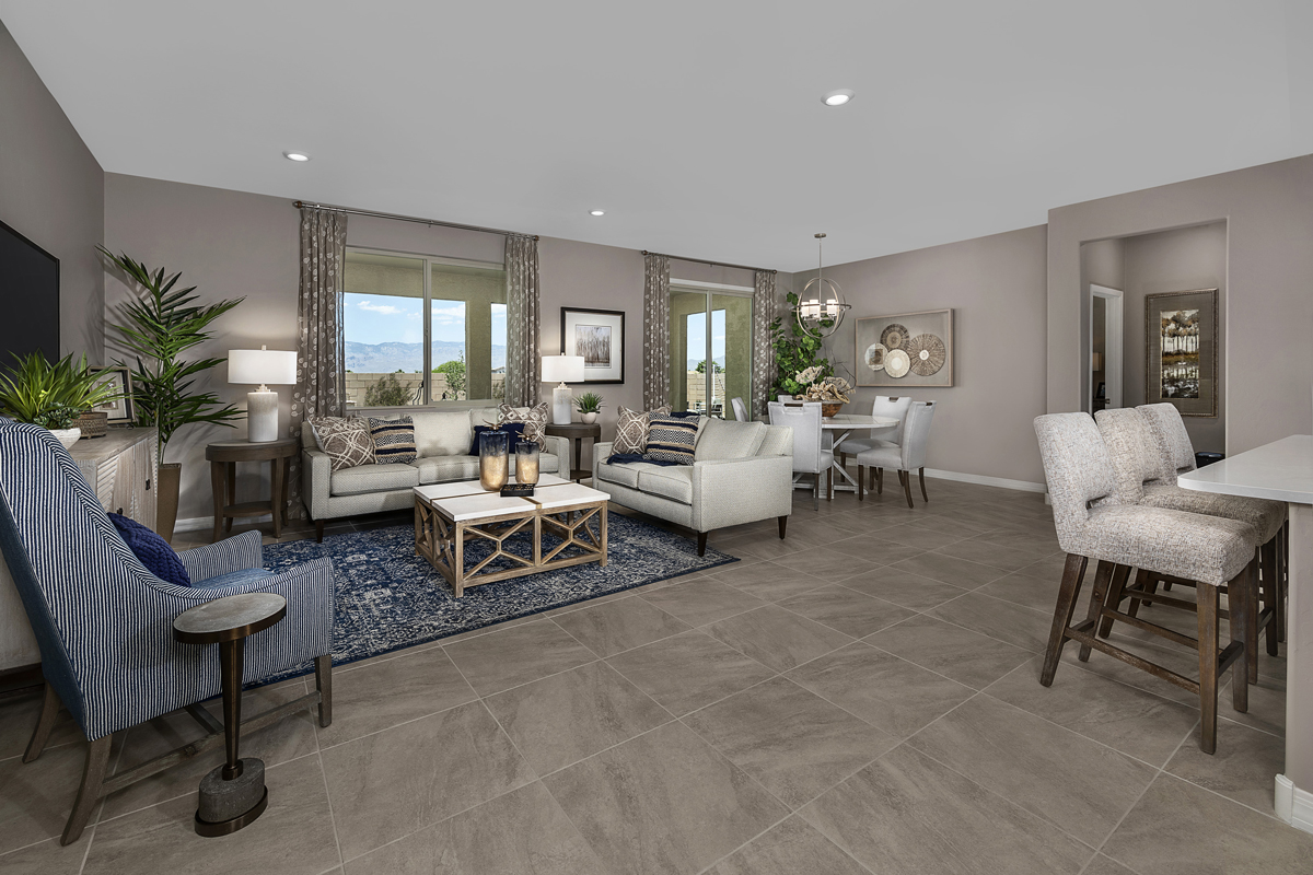 New Homes in Tucson, AZ - Bella Tierra Plan 2013 Great Room