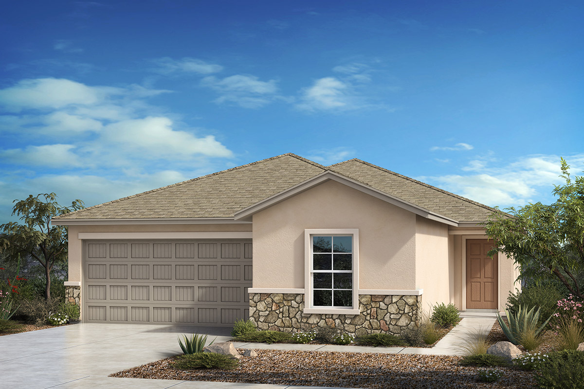 New Homes in Tucson, AZ - Desert Point Plan 1842 Elevation C (with Optional Stone)