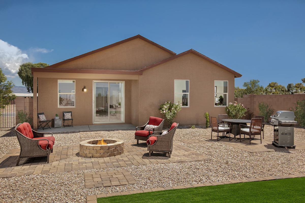 New Homes in Tucson, AZ - Northwood Point Plan 1584 Patio as modeled at Desert Point