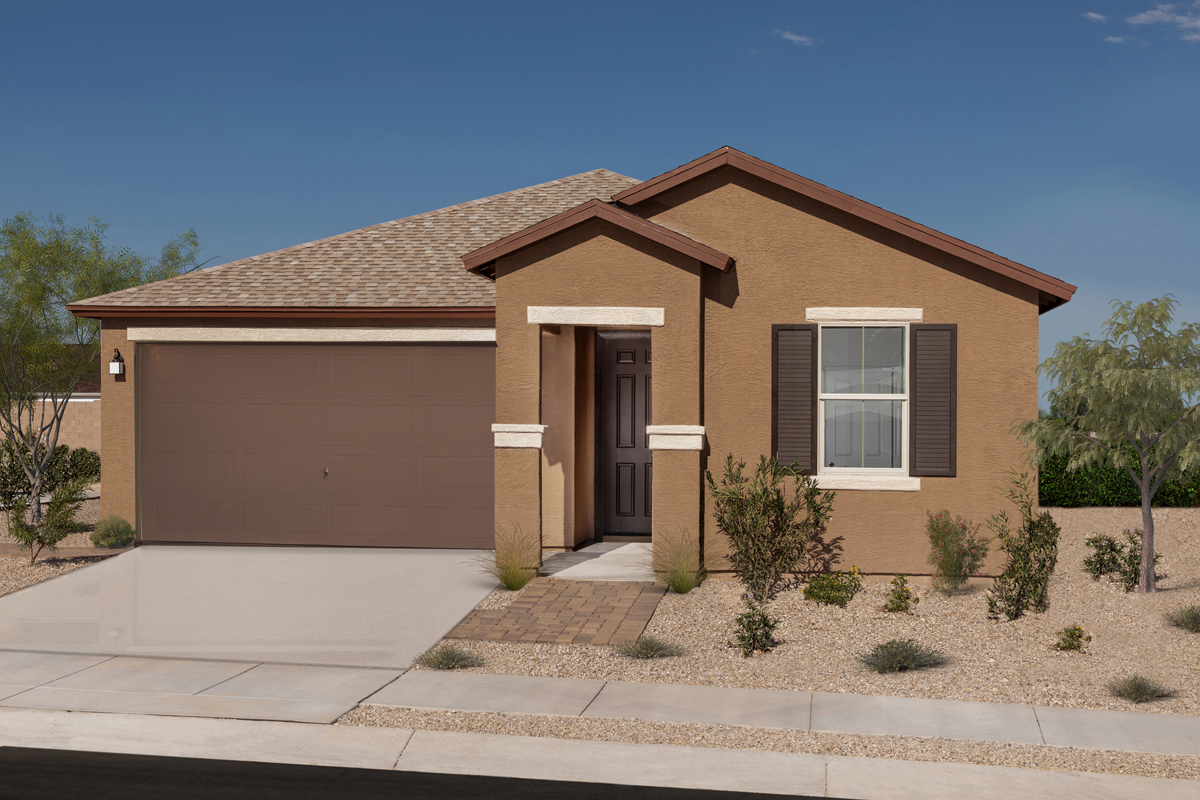 New Homes in Tucson, AZ - Northwood Point Plan 1584 as modeled at Desert Point