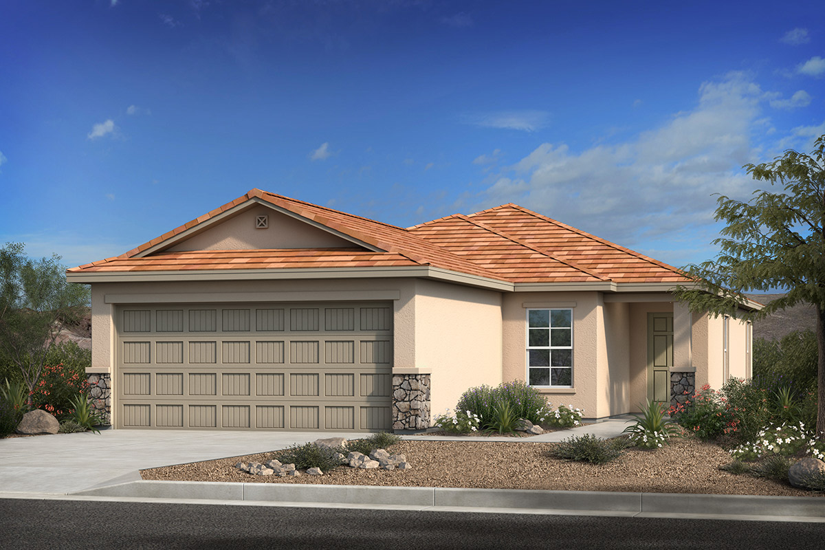 New Homes in Sahuarita, AZ - Elevation C (with Optional Stone)