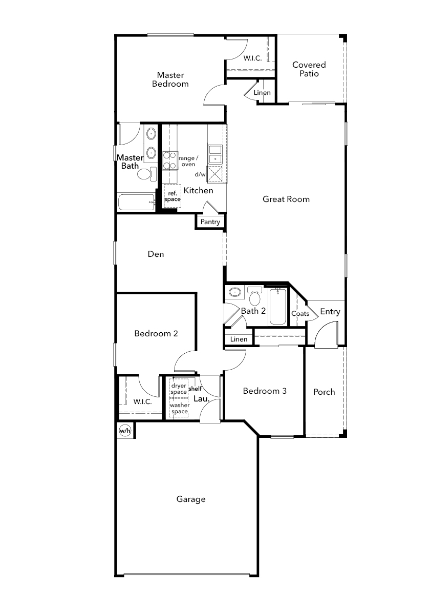 New Homes in Sahuarita, AZ - Plan 1383, First Floor