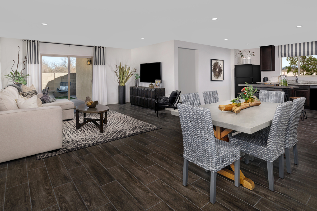 New Homes in Tucson, AZ - La Tierra Reserve Plan 1465 Great Room