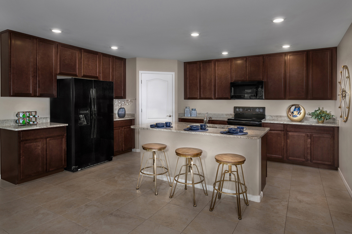 New Homes in Tucson, AZ - Bella Tierra 1740 Kitchen as Modeled at Montaretto Estates
