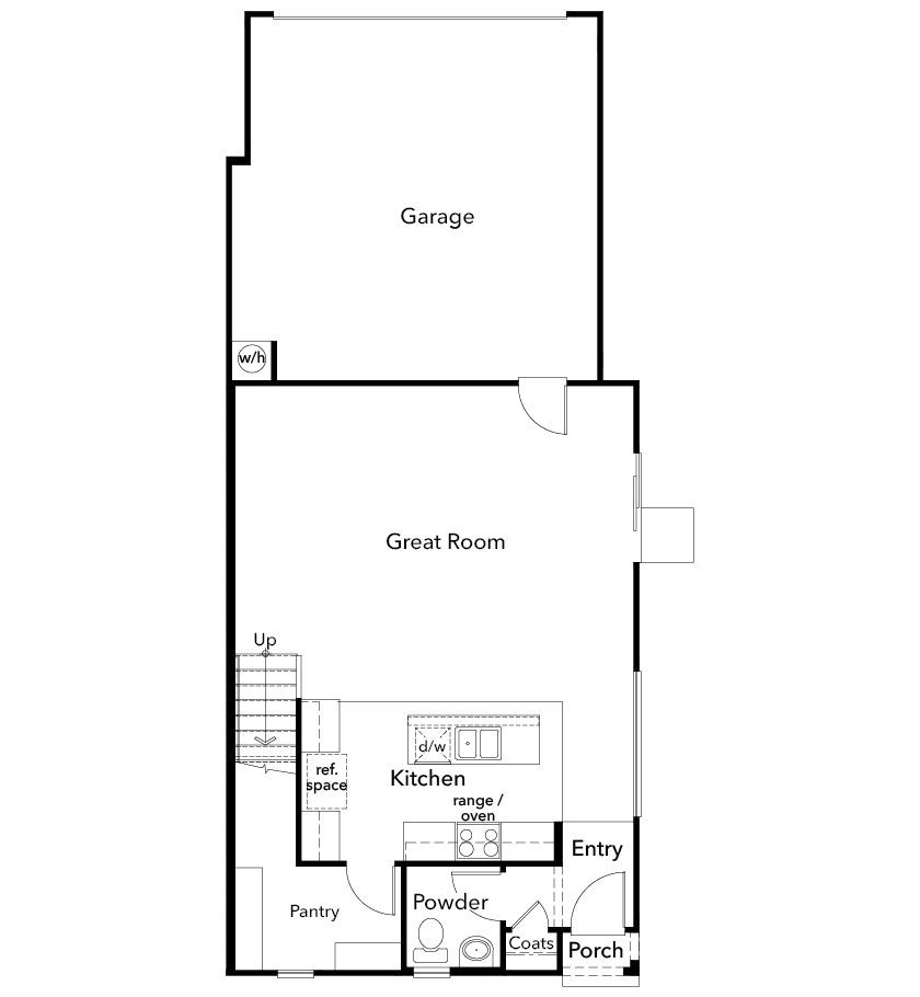 New Homes in Tucson, AZ - Plan 1765, First Floor