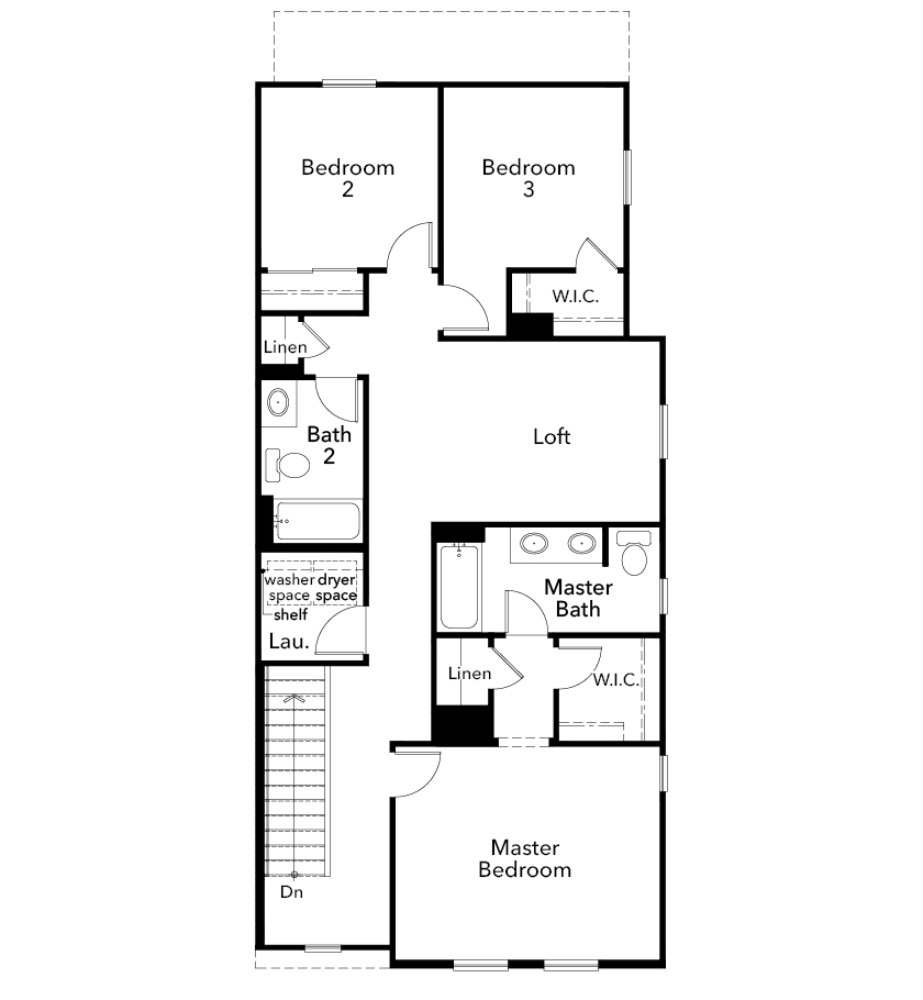 New Homes in Tucson, AZ - Plan 1765, Second Floor