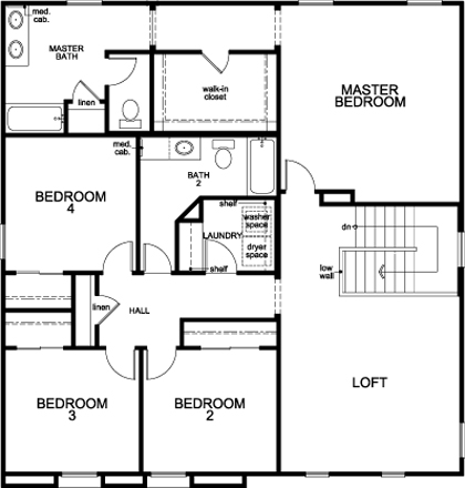 New Homes in Vail, AZ - Plan 2732, Second Floor