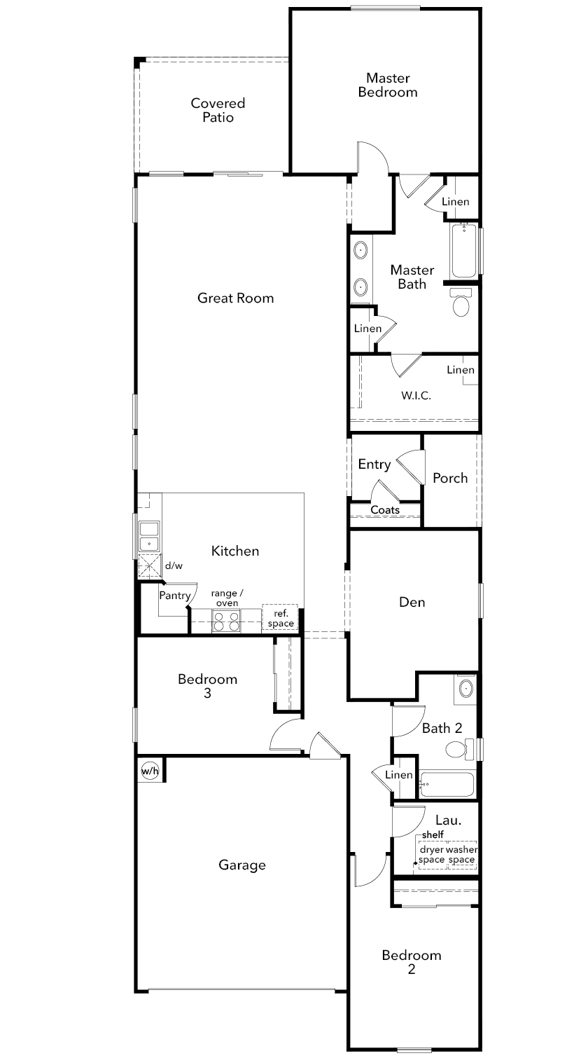 New Homes in Tucson, AZ - Plan 2005, First Floor