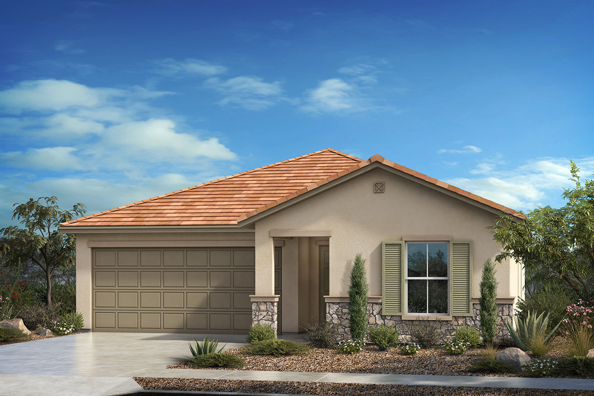Plan 2413 at santa rita ranch ii in vail az kb home for Tucson home builders floor plans