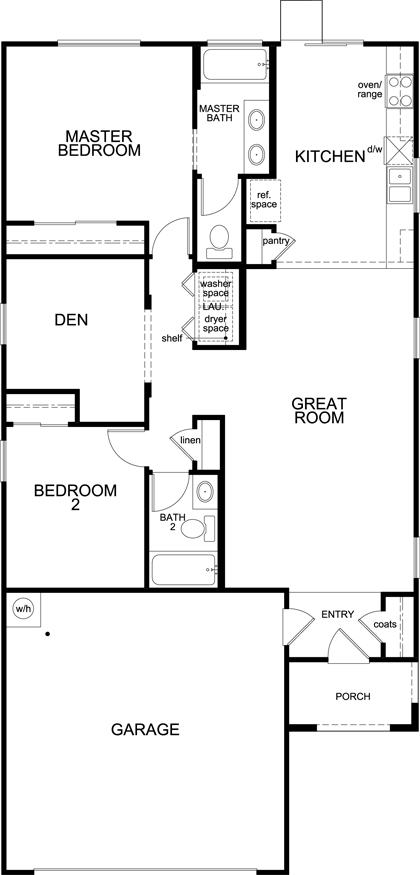 New Homes in Tucson, AZ - Plan 1231, First Floor