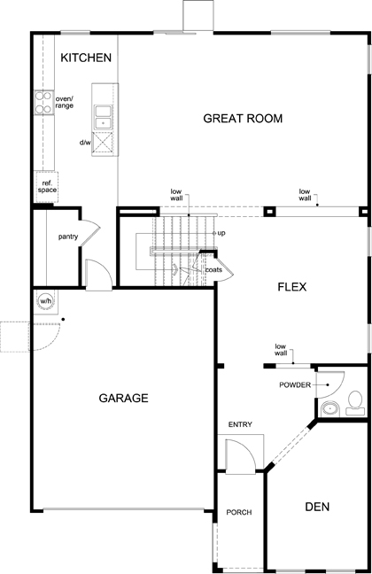 New Homes in Tucson, AZ - Plan 2836, First Floor