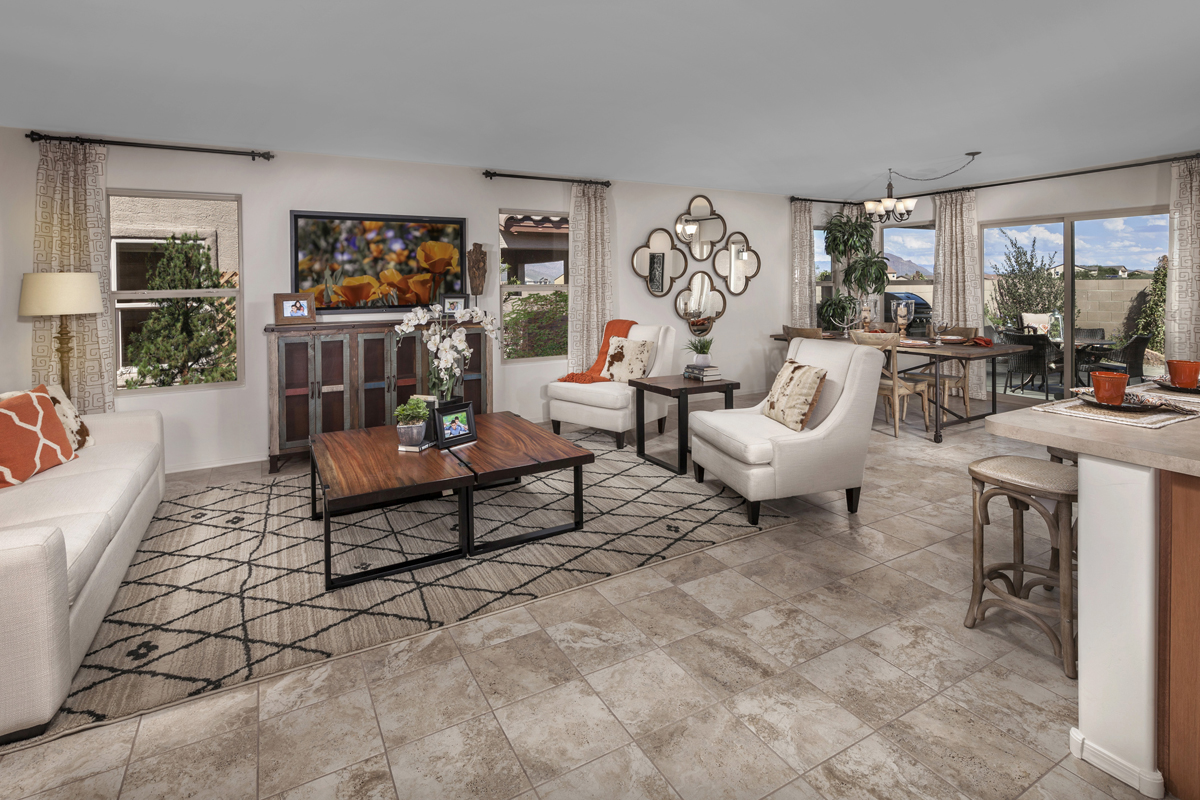 New Homes in Tucson, AZ - Sonoran Ranch II Plan 1849 Great Room