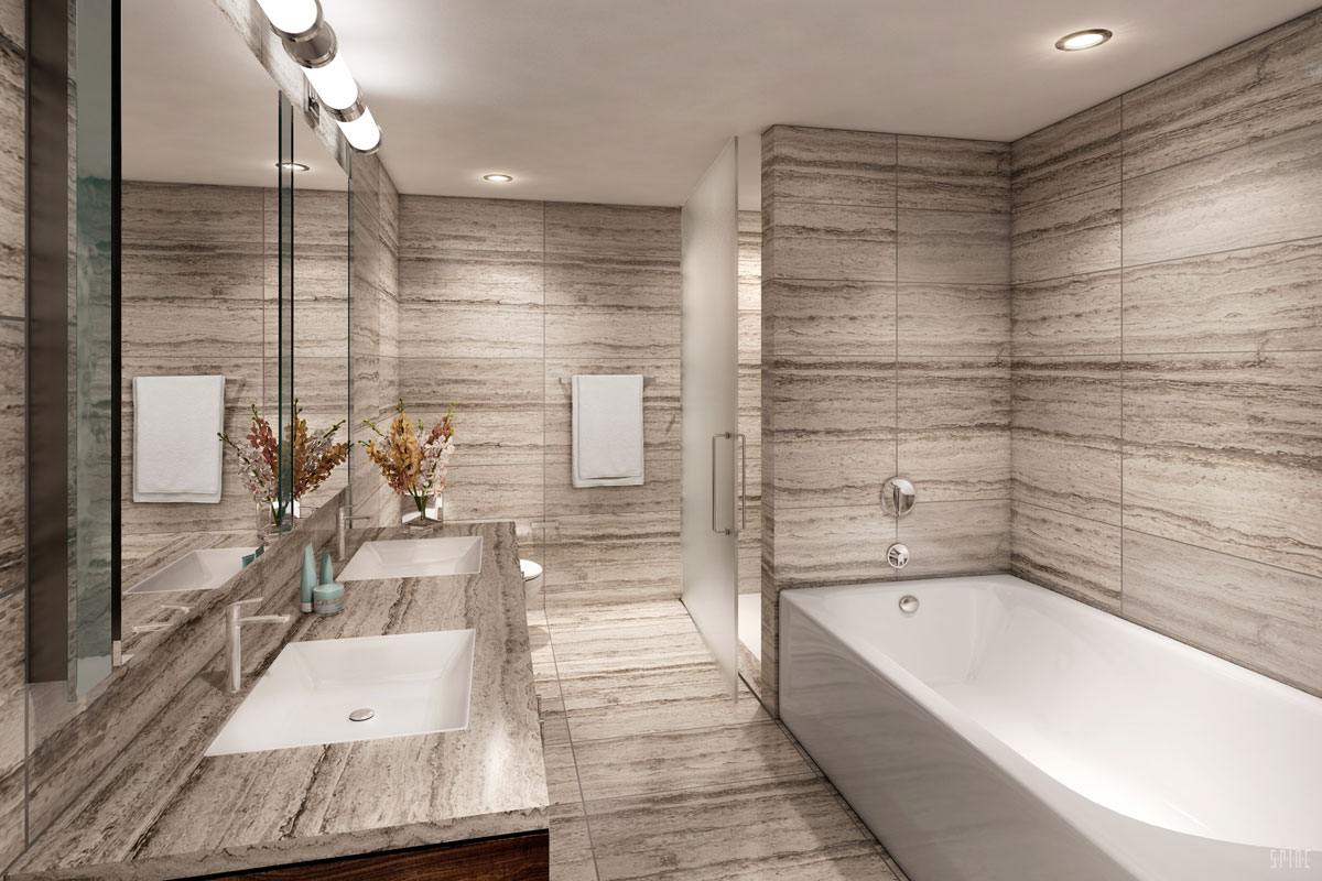New Condo Modern Bathroom Design 72 Townsend San Francisco Ca