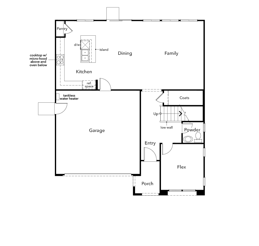 New Homes in Oakley, CA - Plan 2211, First Floor