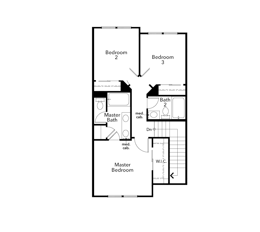 New Homes in Novato, CA - Plan 1731 Modeled, Third Floor