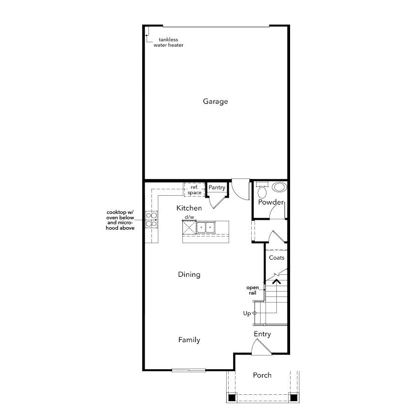 New Homes in Novato, CA - Plan 1606, First Floor