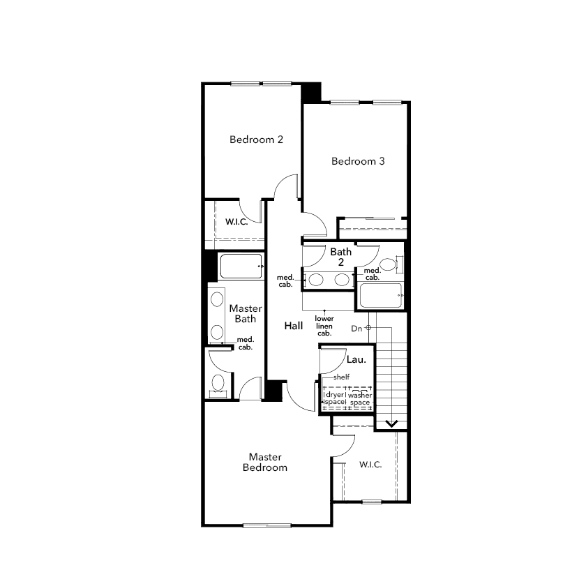 New Homes in Novato, CA - Plan 1606, Second Floor