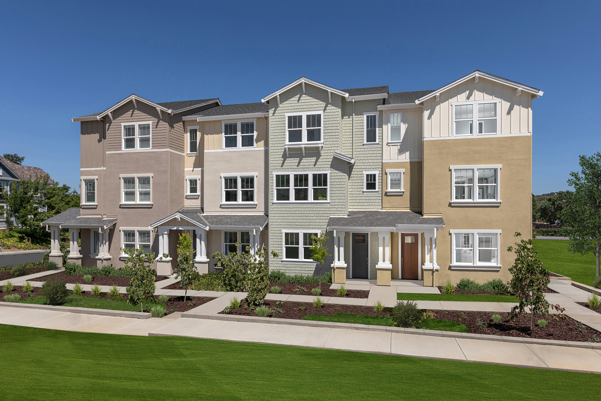 New Homes in Novato, CA - Atherton Place Community Streetscape