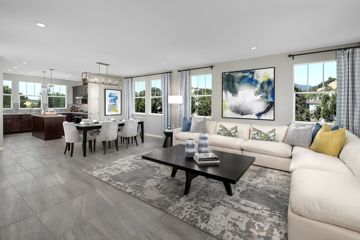 New Homes in Novato, CA - Atherton Place Plan 2 - Great Room