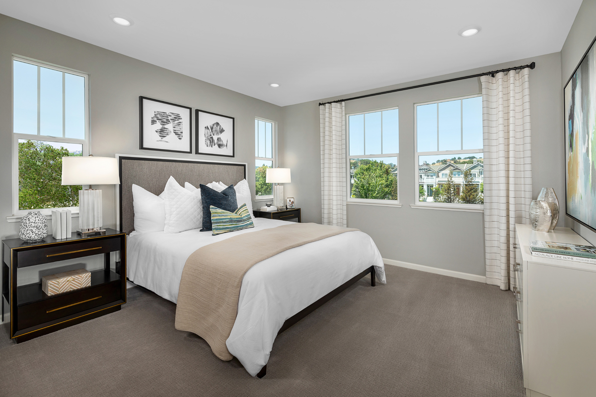 New Homes in Novato, CA - Atherton Place Plan 3 - Master Bedroom