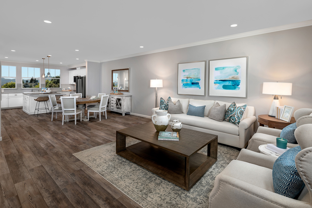 New Homes in Novato, CA - Atherton Place Plan 3 - Great Room