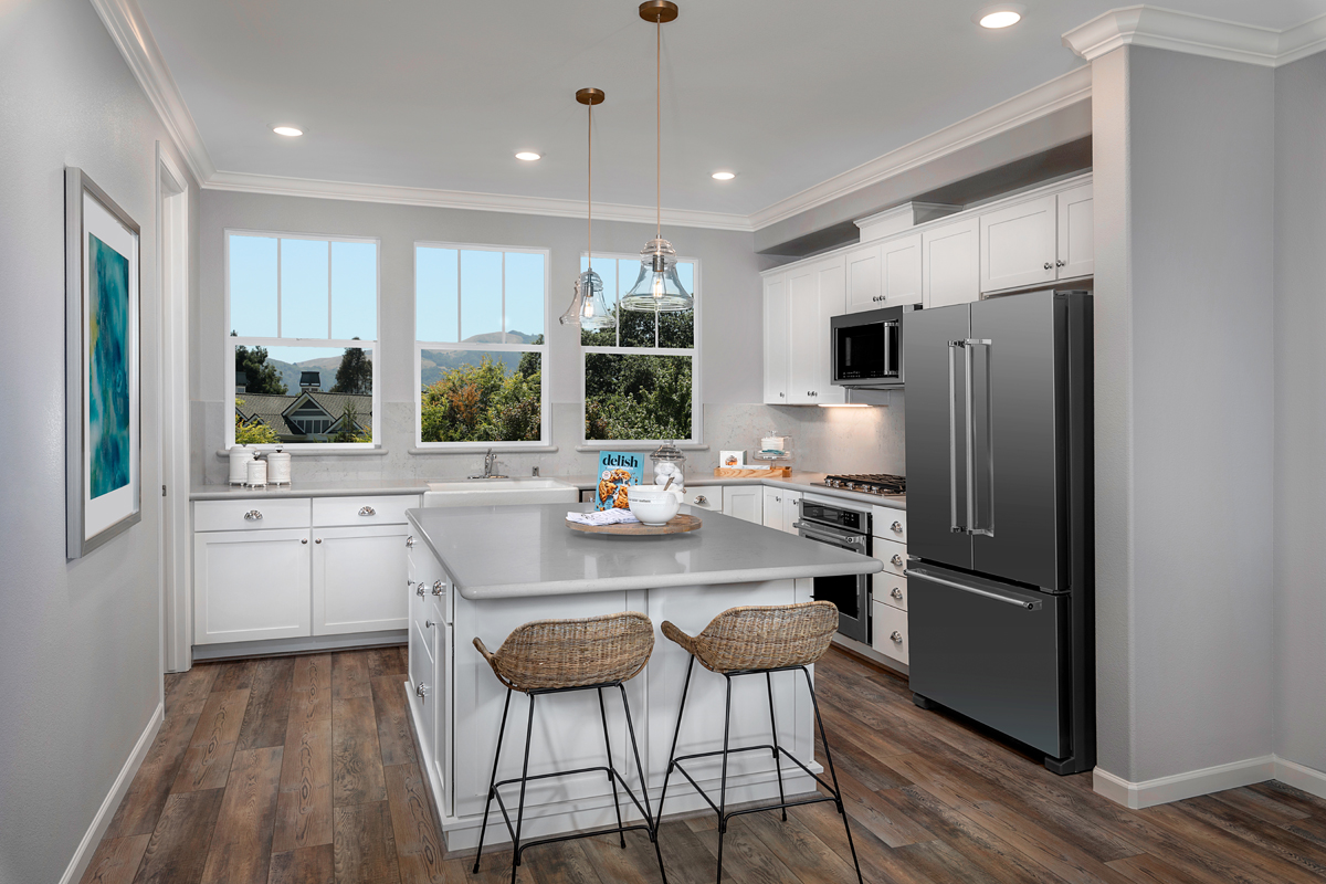 New Homes in Novato, CA - Atherton Place Plan 3 - Kitchen