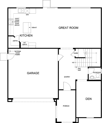 New Homes in Woodland, CA - Plan 2376, First Floor