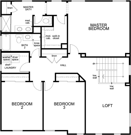 New Homes in Woodland, CA - Plan 2376, Second Floor