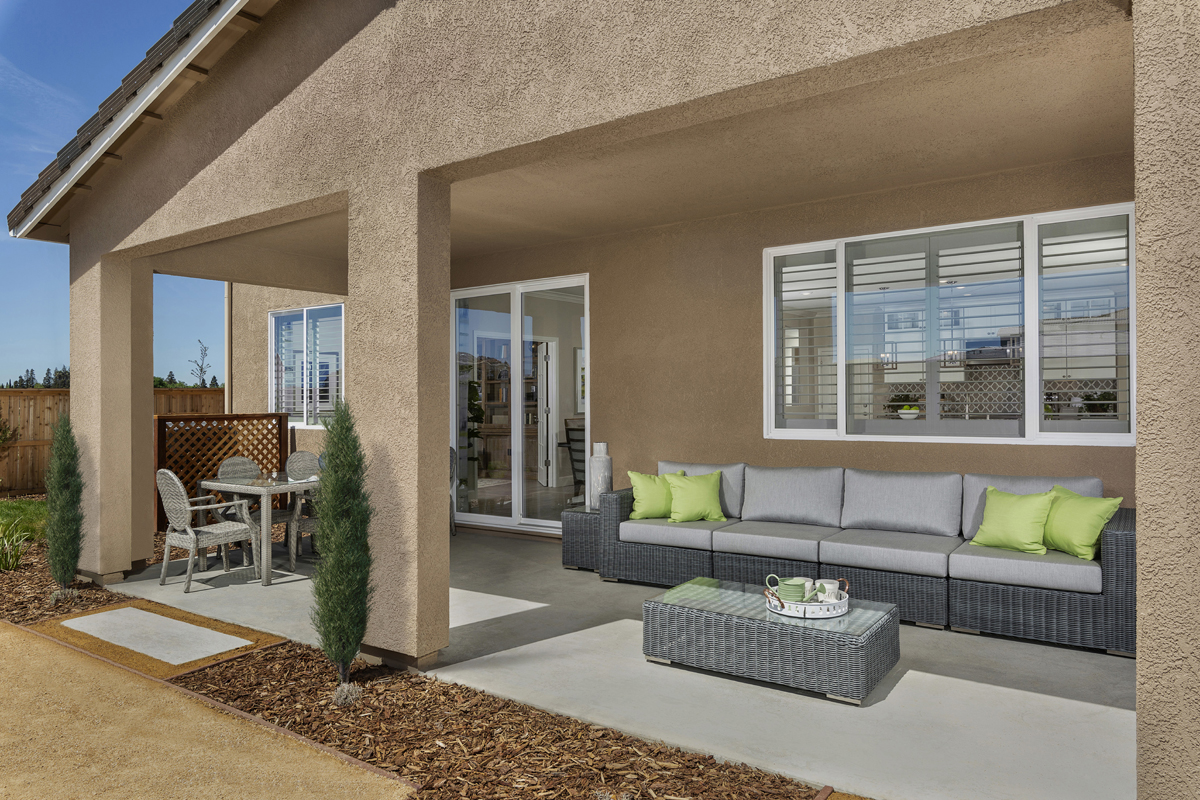 New Homes in Woodland, CA - Bradford at Spring Lake Plan 3061 Patio