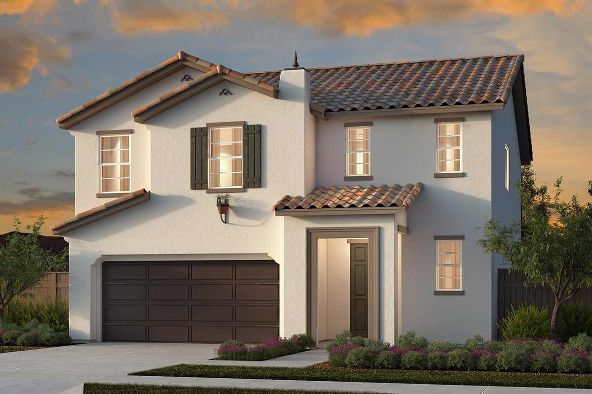 New Homes in Woodland, CA - Plan 1 - Spanish Elevation