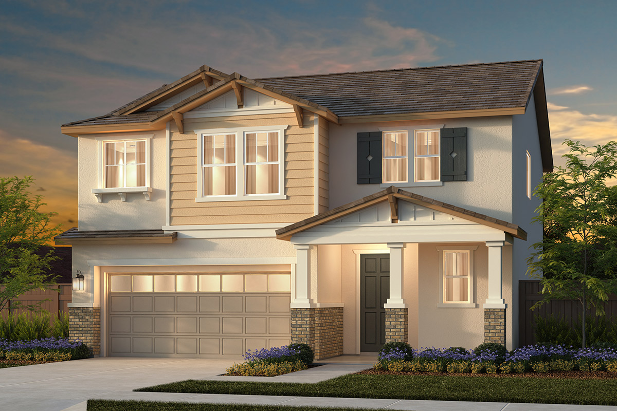 New Homes in Woodland, CA - Plan 1 - Craftsman Elevation