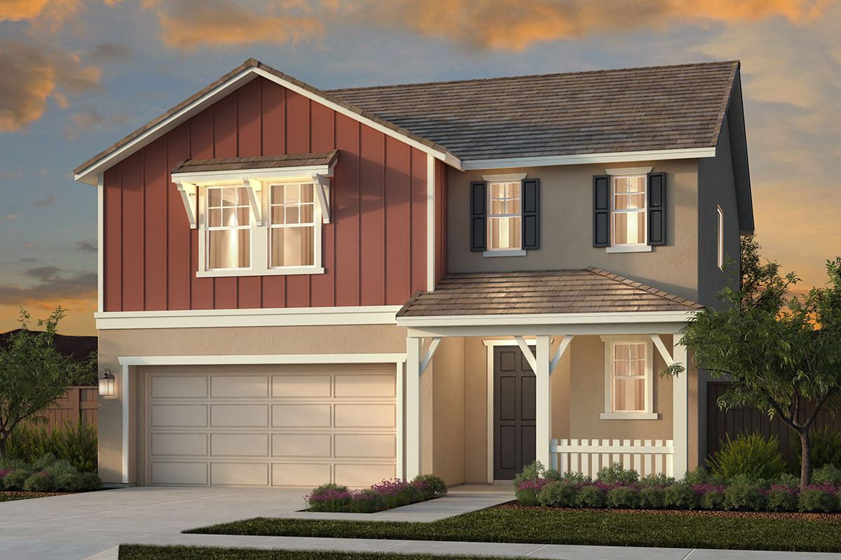 New Homes in Woodland, CA - Plan 1 - Farmhouse Elevation