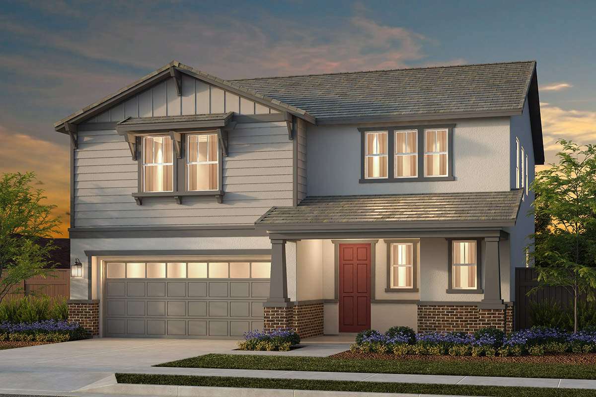 New Homes in Woodland, CA - Plan 3 - Craftsman Elevation