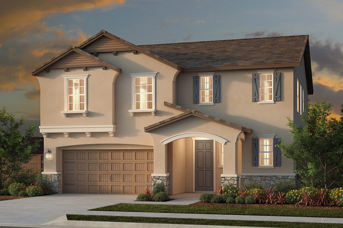 New Homes in Woodland, CA - Plan 3 - French Country Elevation