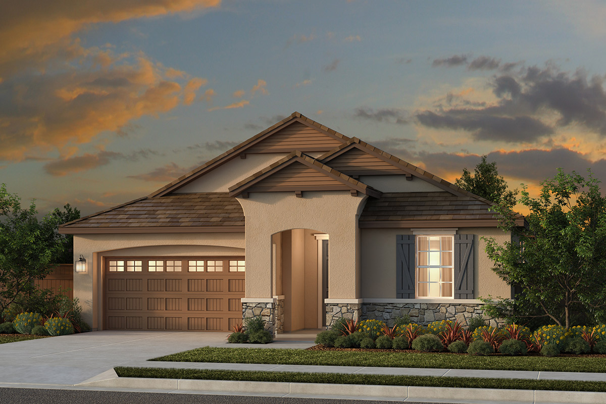 New Homes in Woodland, CA - Plan 2 - French Country Elevation