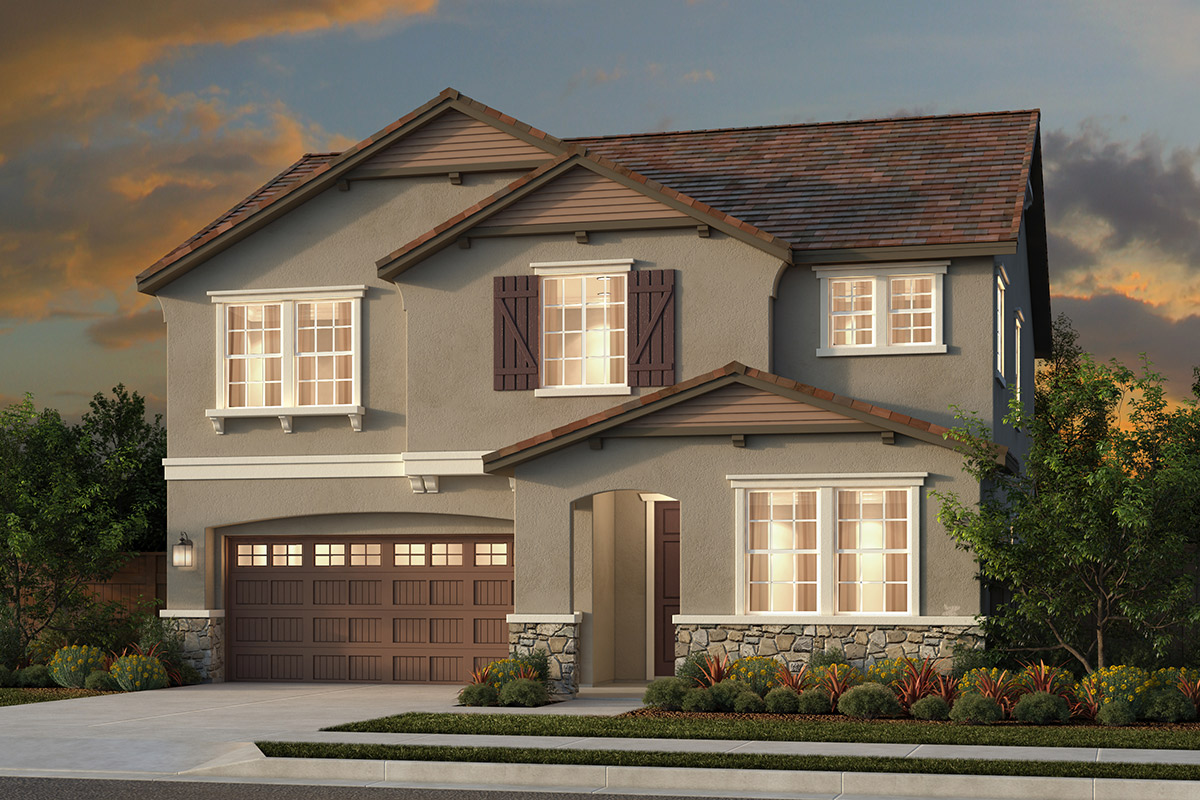 New Homes in Woodland, CA - Plan 5 - French County Elevation